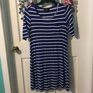 Dresses & Skirts - Royal Blue and White t shirt dress